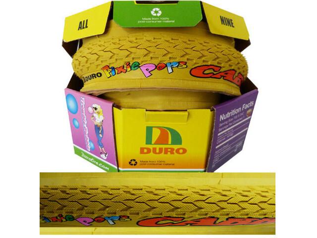 "Duro Fixie Pops Cubierta Plegable Cabby 28"", amarillo"